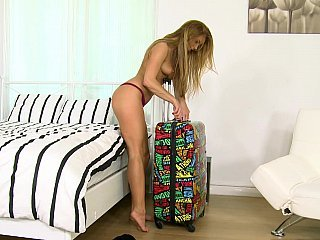 Horny babe invades boyfriend apartment