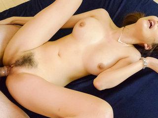 Akari Asagiri has both her holes filled as her big tits swing and sway
