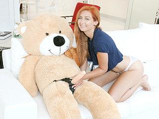 Immature Spinner Caught Fucking a Teddy Bear